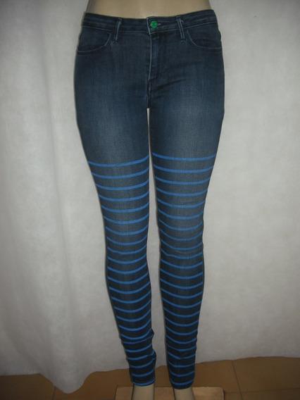 Calça Jeans Listrada 38 Le Vis Usado Bom Estado