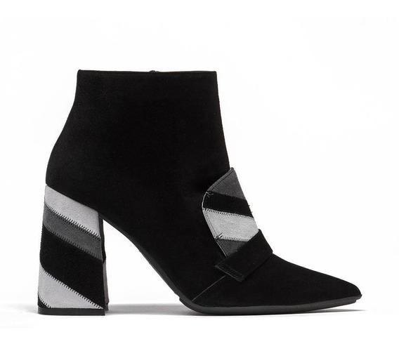 Zapato Vestir Mujer Ante Botín Patchwork Prada Mx