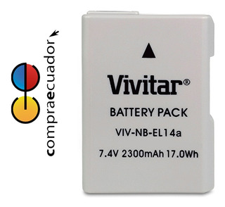 Vivitar Repuesto De Batería Nikon En-el14a 7.4v 2300maha