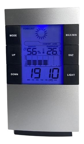 Imagem 1 de 5 de Relógio Digital Termo Higrômetro Despertador Termômetro