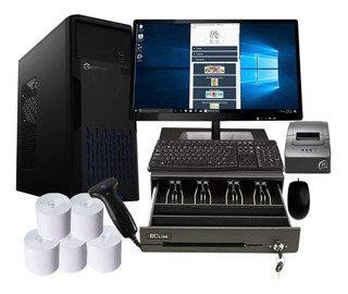 Computadora Pc Amd Punto De Venta Barato Completo Led 19.5
