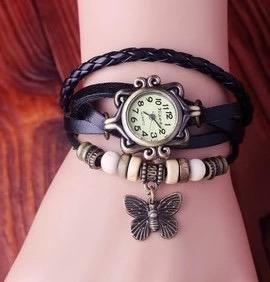 Relógio De Pulso Retro Vintage Preto - Envio Imediato