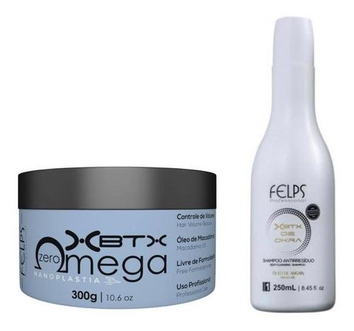 Felps Omega Zero Xbtx  300g + Shampoo Antirresiduo 250ml