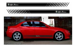 Adesivo Emblema Faixa Alfa Romeo 156 Lateral Imp6
