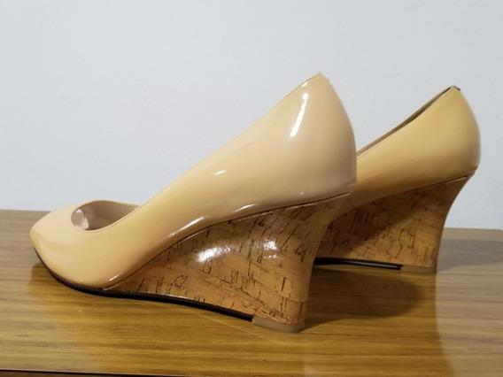 Zapatos Taco Chino Color Nude. Talle 39 Importados. 1 Uso