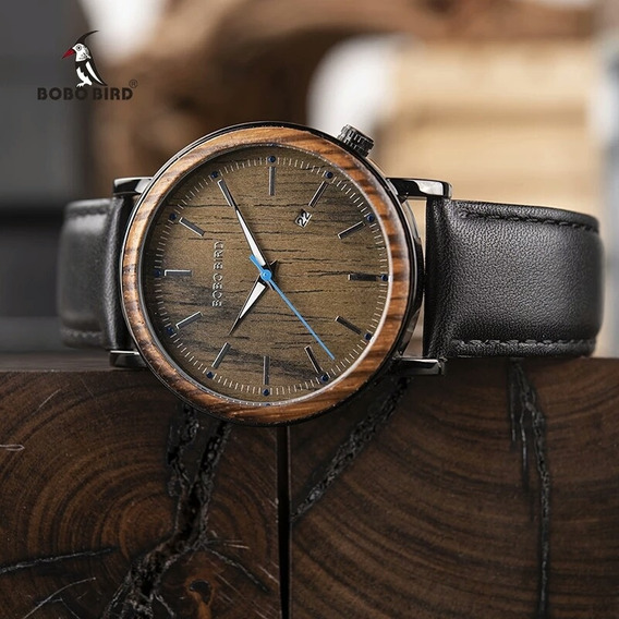 Relógio Masculino Bobobrid Madeira O27 Analógico Luxo