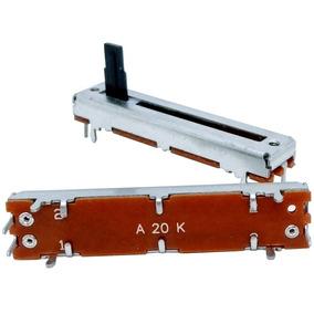 Potenciômetro Deslizante Mono 20ka A20k A203 Percurso 30mm