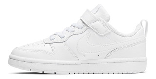 Tenis Nike Court Borough Low 2 Niños Blanco Bq5451 100