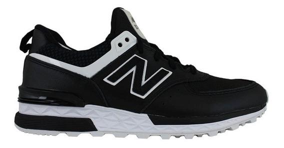 Zapatillas Mujer Hombre New Balance Urbanas Cuero 574 Negras