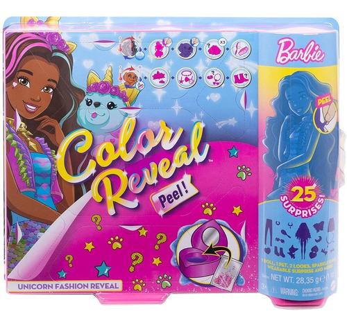 Imagem 1 de 5 de Barbie Color Reveal 25 Surprises Unicornio Unicorn 2021