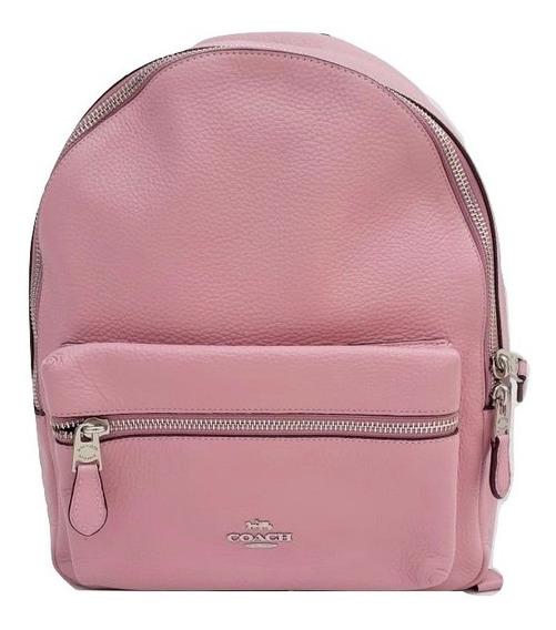 Coach Mochila Backpack Mediana F30550 Rosa Tulip 100% Original