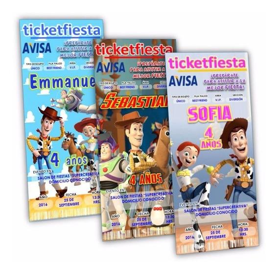 30 Invitaciones Impresas Toy Story ¡en Oferta!