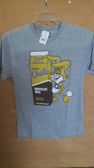 Playera Nesquik Talla M Color Gris Original