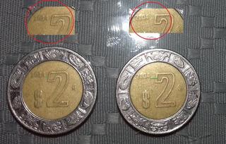 Variedad Monedas 2 Pesos Año 2004 Fecha Cercana Y Lejana (b)