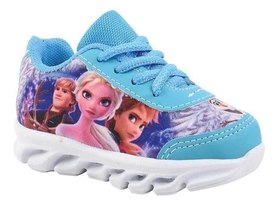 Tênis Led Frozen Infantil E Bb Lançamento Oferta