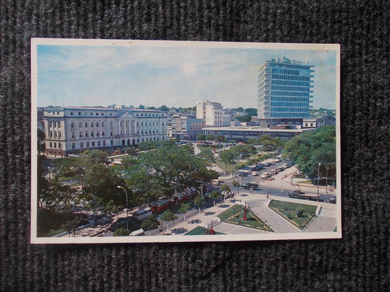 1136-postal Paraguay 1966 Plaza Heroes Bco Fomento H.guarani