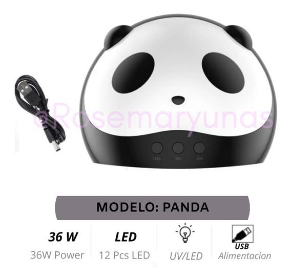 Cabina Uvled Panda 36w Secador Uñas Gel Semipermanente Timer