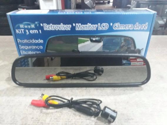 Tela Retrovisor Monitor Lcd 4.3 Com Camera De Ré