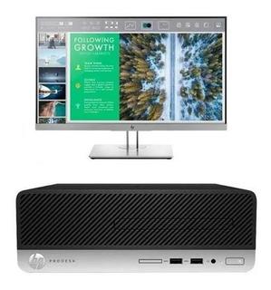 Pc Hp Prodesk 400 G6 I7 8gb 1tb + Monitor 24