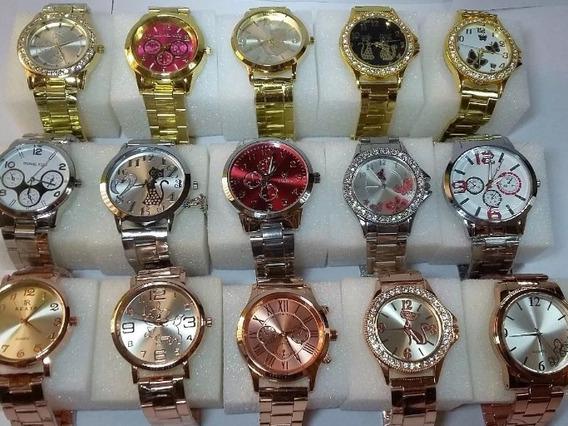 Relógios Feminino Kit Com 10 Unidades