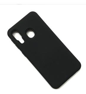 Funda Silicona Case Armor Para Samsung A40 Color Negro
