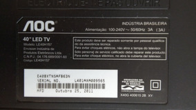 Cabo Lvds Usado Tv Aoc 40 - Mod. Le40h157