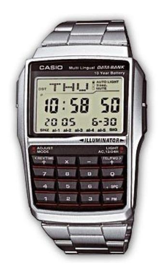 Relogio Casio Dbc 32d Aço 25 Databank Calculadora Nf Dbc32