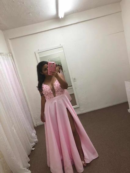 Vestido De Gala, elena Arrieta, Color Rosa.