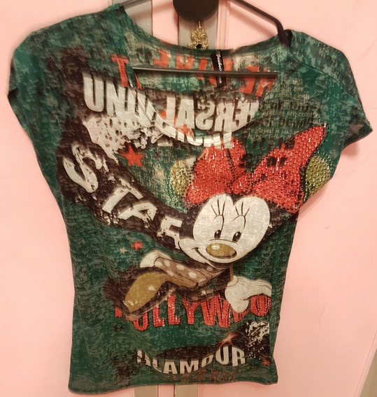 Remera Micky Y Minnie Mouse (no Jazmin Chebar)