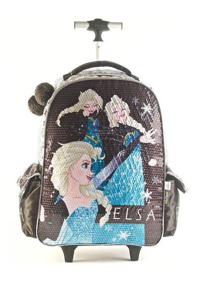 Mochila Frozen Carro 16p Wab 88313 Lentejuelas Educando