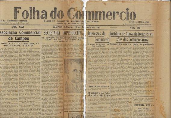 Brasil 1935 Jornal Folha Do Comércio Nº 178 Selo Fiscal