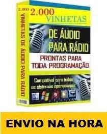 Pacote Com + De 2.000 Vinhetas Para Radio + Frete Grátis