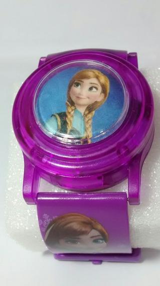 Relógio Digital Infantil Frozen Horas Musica Luzes E Piscas