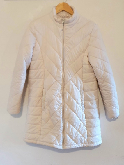 Campera Larga Inflable Blanca