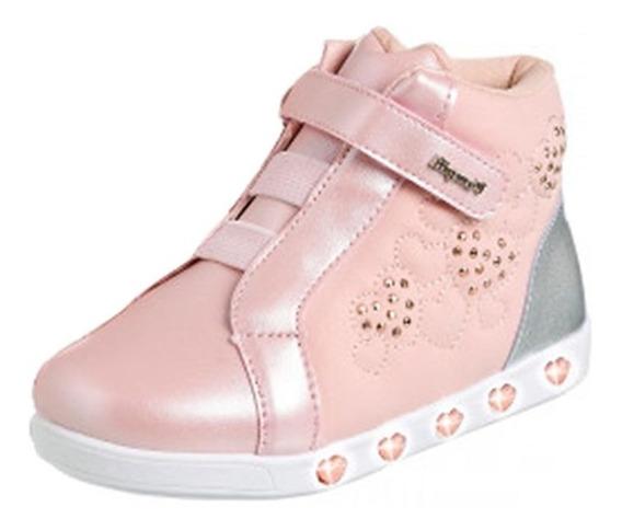 Tênis Sneaker Rosa Novo Frete Off Luz Pampili 010420