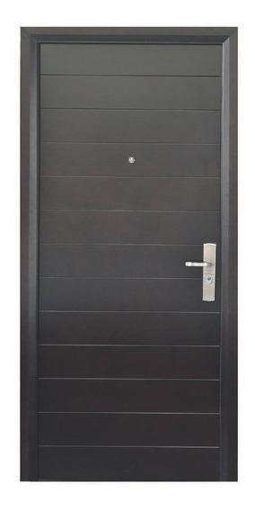 Puerta De Seguridad Xe Contempo 110-240 Ap Izq Acero+madera