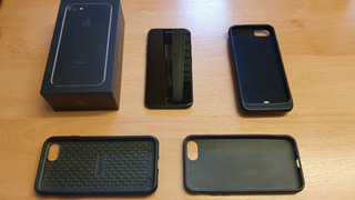 iPhone 7 128gb Jet Black Excelente Estado + Cases De Regalo
