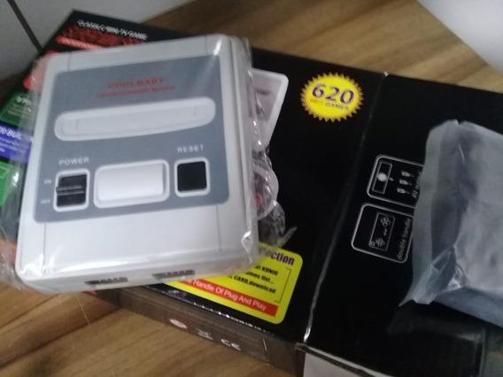 Videogame Super Mini Sfc Com 620 Jogos 8-bit E 2 Controles