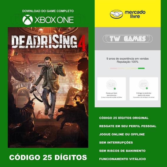Dead Rising 4 Codigo 25 Digitos Xbox One Fat S X