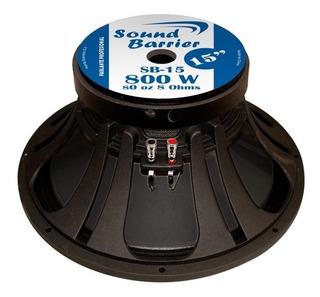 Parlante 15 800w Aluminio 80oz Bobina4 Sound Barrier Sb15