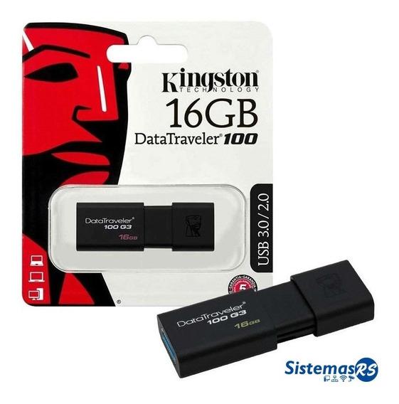 Pendrive Kingston 16gb Datatraveler 100 Usb 3.1