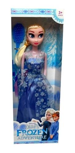 Muñeca Pelicula Aventuras Frozen Figura Elsa Divertido 29 Cm