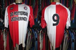 Feyenoord 2002 Camisa Titular Tamanho 3g Número 9.