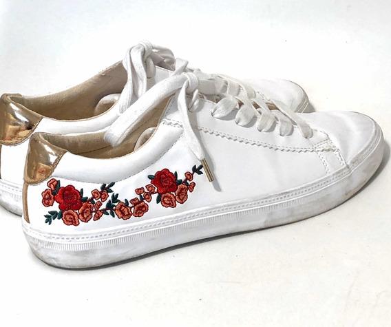 Zapatillas Blancas Bershka Talle 39 Mujer