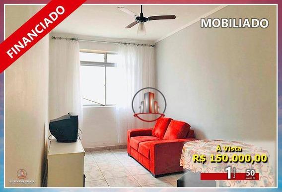 Apartamento Com 1 Dormitório À Venda, 50 M² Por R$ 150.000,00 - Vila Guilhermina - Praia Grande/sp - Ap1785