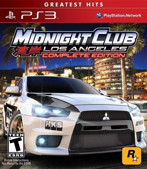 Midnight Club Los Angeles Ps3 Psn Receba Hoje