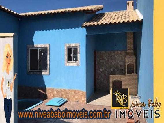 Linda Casa 1 Quartos Com Ótimo Terreno Em Cabo Frio Unamar Rj - Vcac 263 - 34208388