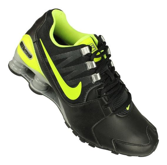 Tênis Nike Shox Avenue Ltr Preto/limão