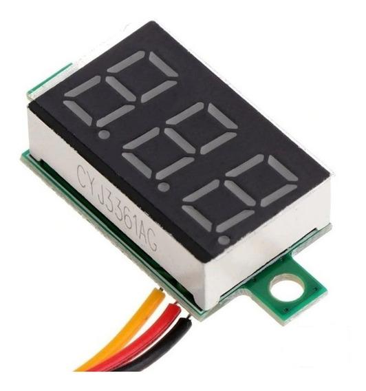Kit 02 Mini Voltímetros Digital Frete Gratis Pronta Entrega!