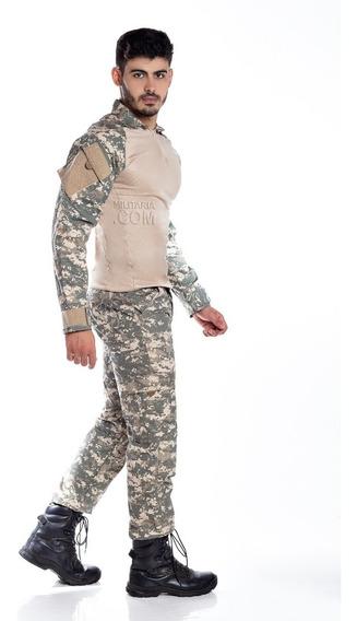 Farda Completa Camuflada Militar Reforçada Airsoft Original